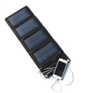 7w 5 5v Portable Folding Foldable Usb Capming Solar Panel Charger Solar Battery Panel Mobile Cell Phone Power Bank Charger Solar Panel Charger Cell Phone Charger Phone Power Bank