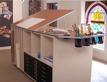 Nice Getting Ready To Build A New Work Bench. Looking For Ideas So Paper Draws  Can Fit Under | Studio Insperation | Pinterest | Bench, Art Studios And  Studio