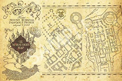 Harry Potter Marauders Map Printable That Are Punchy Dan S Blog In 2020 Marauders Map Printable Harry Potter Marauders Map Marauders Map