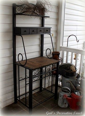 Happy And Content With Bakers Rack Bakers Rack Potting Bench Rack