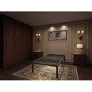 Aromustime 16 Inch Metal Platform Bed Frame Easy Assembly Mattress
