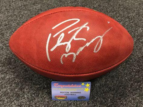 Peyton Manning Signed Full Size Duke Football Mounted Memories COA Colts  Broncos 3b4c14e60