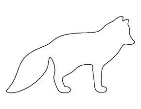 Arctic Fox Pattern Use The Printable Outline For Crafts Creating Stencils Scrapbooking And More Fre Arctic Fox Color Fox Craft Preschool Fox Coloring Page