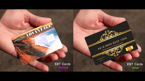 Got an EBT Card? No one should have to feel ashamed about shopping to feed their families with an EBT card. Now you can disguise your ebt card to resemble a classy preferred transaction card and preserve your anonymity while shopping for your family at retailers where your privacy may be at risk or judgement from friends,neighbors,co-workers, or strangers. We have you covered http://ebtcardcovers.com