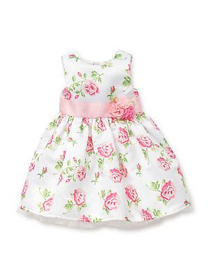 Little Girl/'s Floral Dress with Bloomer