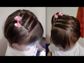 Hairstyle With Braids For Babies Hairstyle With Ribbon Fabric For Baby Baby Baby Hairstyles Hair Styles Ribbon Hairstyle
