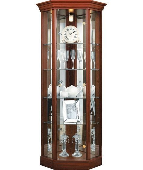Home Glass Corner Vitrine Mahagoni Effekt Kaufen Sie Eckvitr