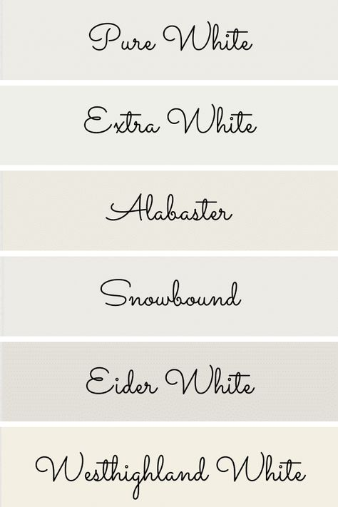 Off White Paints, Best White Paint, White Paint Colors, Favorite Paint Colors, Bear Paint Colors, Nursery Paint Colors, Paint Colors For Living Room, Paint Colors For Home, Best Bedroom Colors