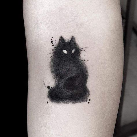 30 charming cat tattoo ideas for cat lovers to try . - 30 charming cat tattoo ideas for cat lovers to try … - Black Cat Tattoos, Mini Tattoos, Body Art Tattoos, Small Tattoos, Tatoos, Water Color Tattoos, Fox Tattoos, Random Tattoos, Cancer Tattoos