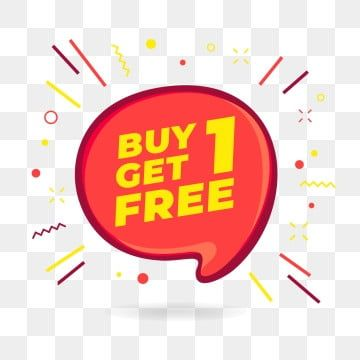 Buy 1 Get 1 Free Sale Speech Bubble Banner Discount Tag Design Template Icon Buy Get Free Png And Vector With Transparent Background For Free Download Design Template Tag Design Banner Advertising