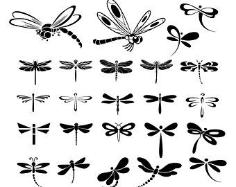 15+ Black And White Dragonfly Clipart