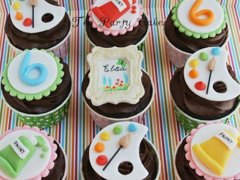 Art Party Cupcakes Cake by Tea Party Cakes
