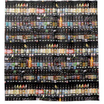 Beer Bottles Shower Curtain Zazzle Com Beer Bottle Diy Shower