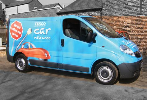 Tesco Can Insurance Full Van Wrap Signs Northwest Manchester