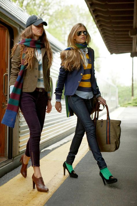 Couldn't pull off the heels, but love the blazer and ball cap. Layering at it's best. Fall Fashion Preppy Look- Fall to winter transition-How to layer for maximum fashion results