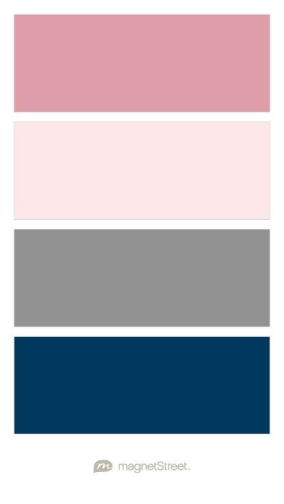 Navy Gray Hot Pink Rug