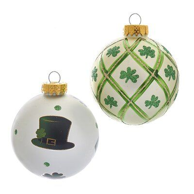 Kurt Adler 6 Piece St Patrick Glass Ball Ornament Set Glass Ball Ornaments Ornament Set Christmas Ornaments