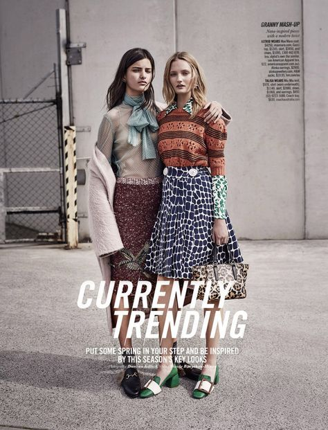 currently trending: astrid holler and talisa quirk by duncan killick for sunday style september 2015