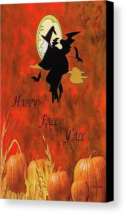 Happy Fall Y All Canvas Print Canvas Art By Jennifer