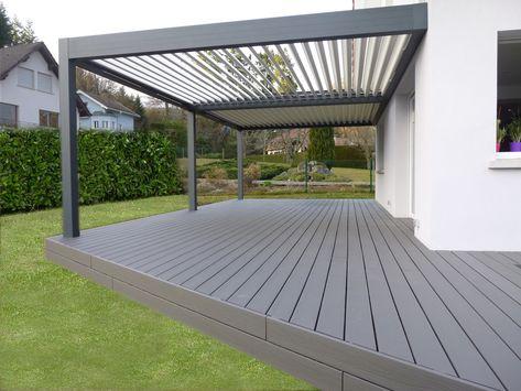 Terrasse bioclimatique Biossun Pergole i zadaszenia Pinterest - peinture terrasse beton exterieur