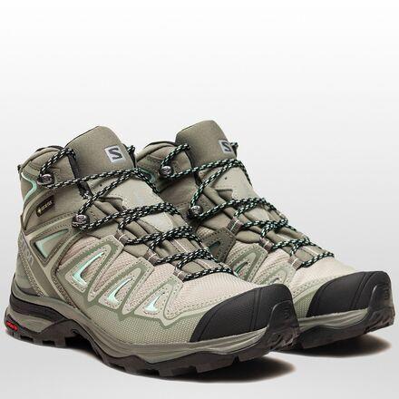 Salomon X Ultra 3 Mid Gtx Hiking Boot Women S In 2020 Hiking Boots Boots Womens Boots