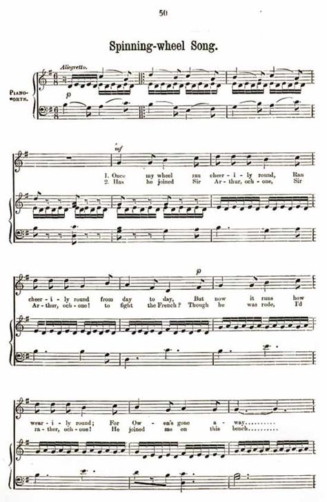 Music score to Spinning-wheel song Sheet Music Pinterest - tennis score sheet