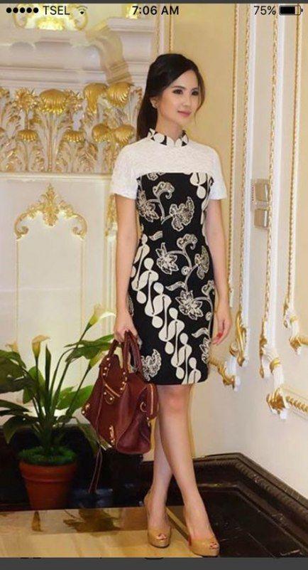 37 Ideas Dress Brokat Modern Pendek Dress Pakaian Wanita