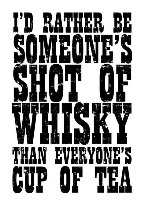 Whisky Shot // Typography Print Motivational by TheNativeState