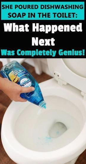 If Cleaning A Clogged Toilet With A Plunger Is Too Disgusting For You Try To Unclog A Toilet With A Dishwas Dishwasher Soap Clogged Toilet House Cleaning Tips
