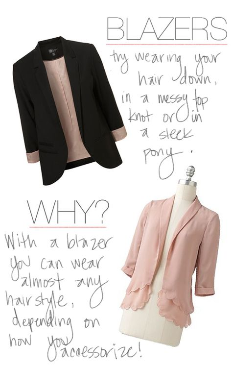 how to wear your hair with a blazer