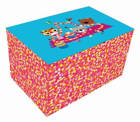 Storage box flower party mouk