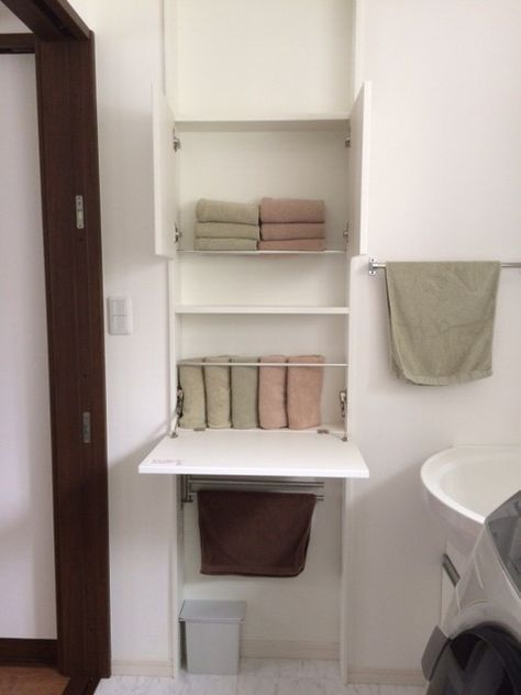 我が家の洗面所 タオル収納初公開 脱衣室 収納 洗面所 収納