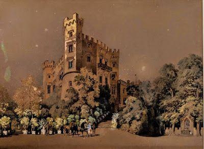 Aquarell Schloss Hohenschwangau Geschenk Des Konigs Ludwig Ii An Wagner Schwan Geschenke