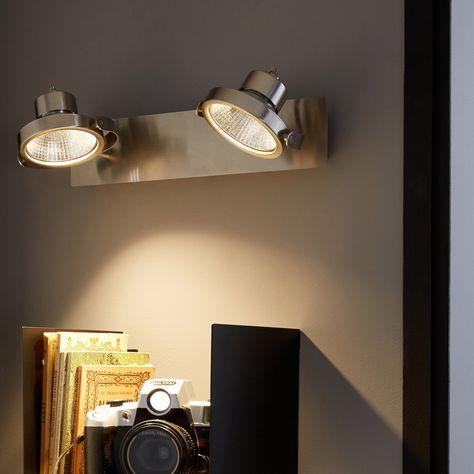 Rampe 2 Spots Led Integree Classique Chic Aluminium Inspire