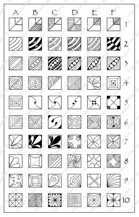 Square Fragments Patterns Chart 5 x 8 | Etsy