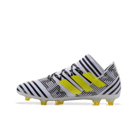 sports shoes 903d4 3fa83 Baratas 2017 Adidas Nemeziz 17.1 FG Botas De Futbol Blanco Negro Amarillo