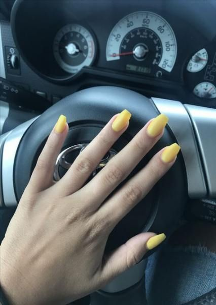 58 Trendy Nails Acrylic Summer Coffin Yellow