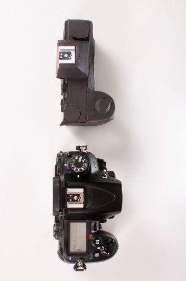 Nikon mirrorless camera vs  Nikon D7000 size comparison
