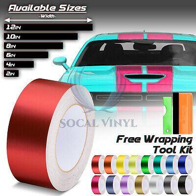 Brushed Aluminum Style Racing Stripes Vinyl Wrap Rally Sticker 10 20 Feet Long Ebay Vinyl Wrap Rally Stripes Racing Stripes