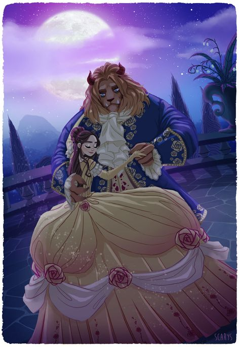 Beauty and the Beast by Ludovica Liera on ArtStation.