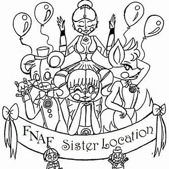 Image Result For Friday Nights At Freddy S Coloring Pages Sister