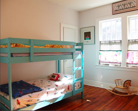 painted Ikea bunk bed