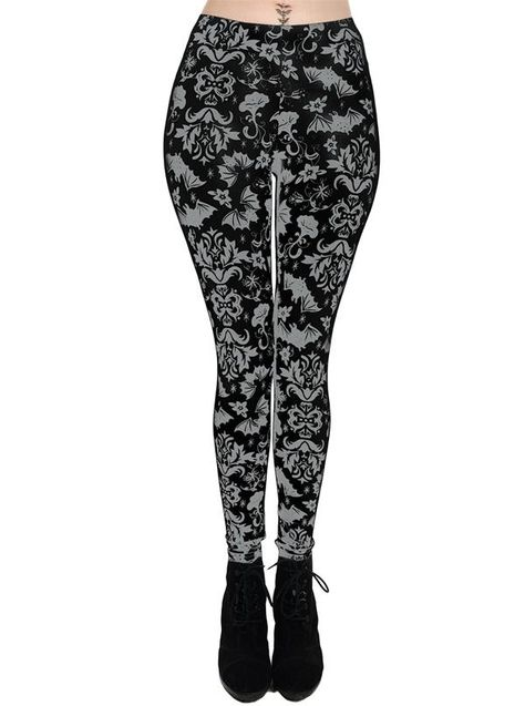 Women S Victorian Bats Lexy Leggings By Too Fast Clothes Street Wear Instagram Outfits