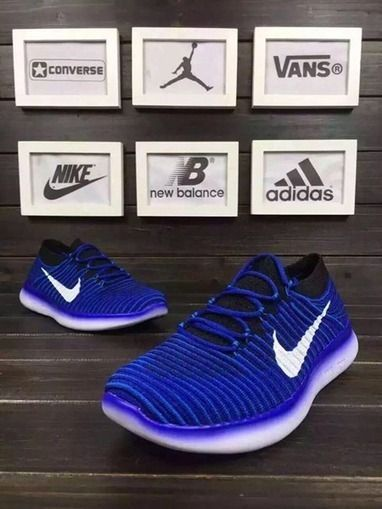 Nike Free RN 3.0 Motion Flyknit Blue Black Running Shoes [nikefree-303] -