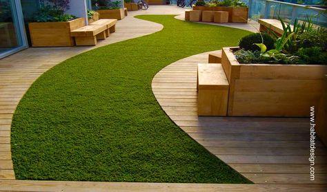 Deck Jardin Buscar Con Google Gazon Synthetique Terrasse