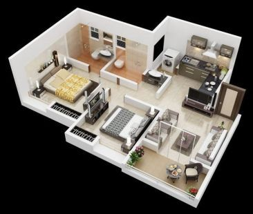 Pic 062 House Plans Floor Plan Design Two Bedroom House
