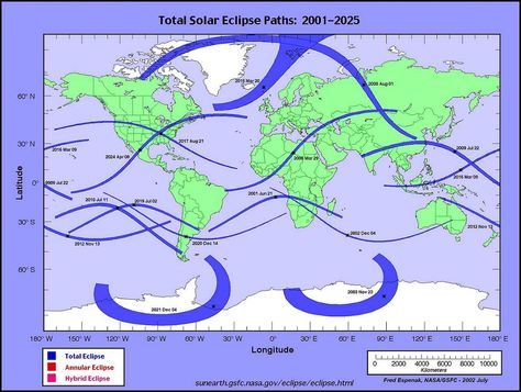 158 Total Solar Eclipse Map 2001 2025 Total Solar Eclipse 2017