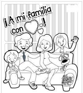 Colorear Familia Colorear Familia En 2020 Dia De La Familia Imagenes De Ninos Felices Imagenes De Familia