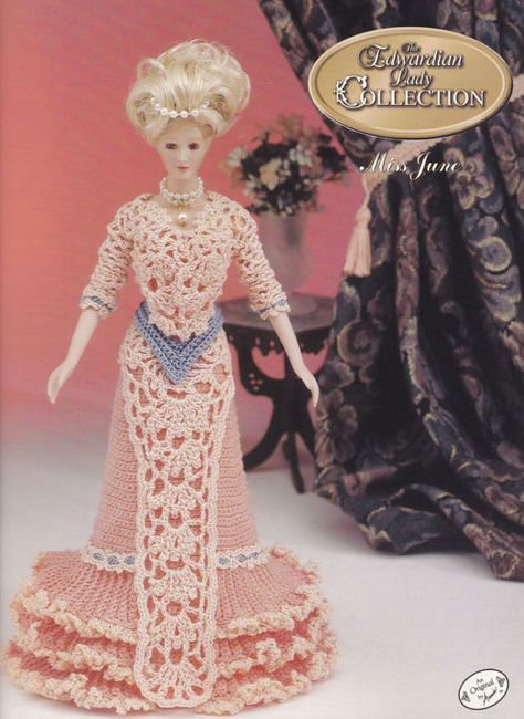 Miss March Bridal Belle Outfit for Barbie Doll Annie/'s Crochet Pattern Leaflet
