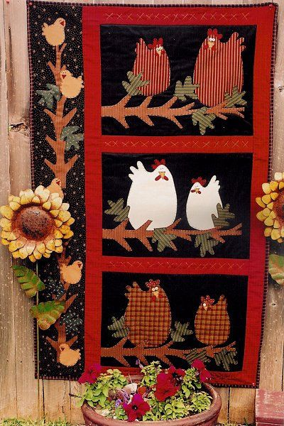 Midnight Roosters Applique Quilt Pattern by Meme's by RoosterCreek, $8.00